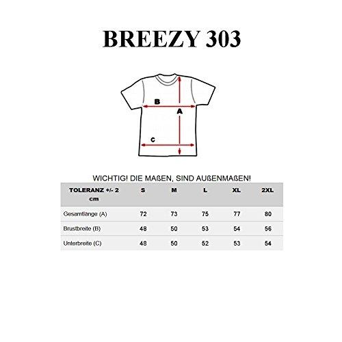 BOLF Herren T-Shirt Tee Kurzarm Rundhals Schadel Slim Aufdruck MIX 3C3 Motiv Weiß_303