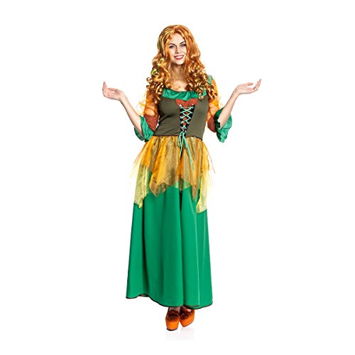 Size Fee Plus Kostüm (Kostümplanet® Herbstfee-Kostüm Damen gute Fee-Kostüm Hexen-Kostüm große Größen)