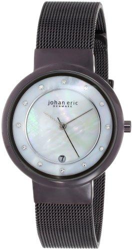 Johan Eric JE6000-05-009B - Reloj analógico de Cuarzo para Mujer, Correa de Acero Inoxidable Color marrón