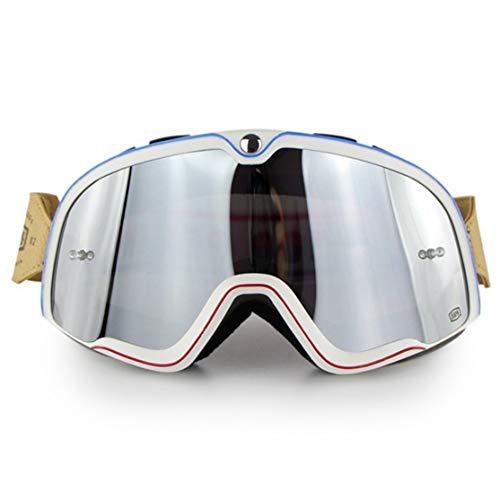 LouiseEvel215 Retro Motorrad Brille Sport Fahrrad Sonnenbrille Winddicht Reitbrille Wesentliches Zubehör