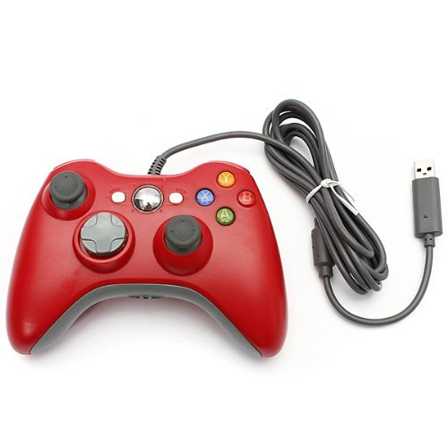 Controlador Xbox 360 Controller Stoga cable USB Game Pad Controller para MICROSOFT Xbox 360 PC Windows7 XP-rojo