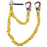 KONG Sicherheitsgurtzeug Lifeline elastisch 2 Karabiner mit 1 Schnappschäkel, 54460