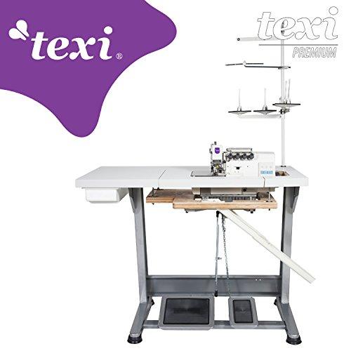 TEXI Overlock la Industria Máquina de Coser-4Hilos 2Agujas-con Integrado Servomotor-Completo (con Mesa y Estructura)