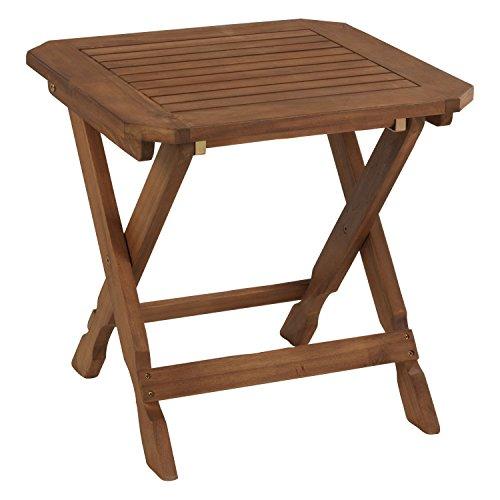 Holzhocker Fußhocker Sitzhocker SANARA 2 | Akazienholz | Braun | klappbar