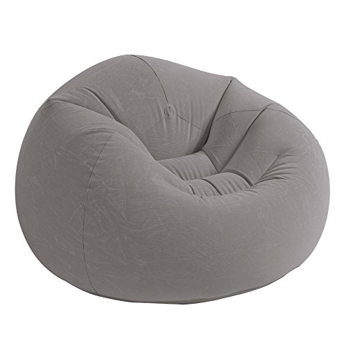 Intex Beanless Bag Inflatable Chair, 42' X 41' X 27', Beige