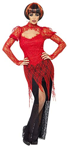 SMIFFYS - Costume Halloween/Carnevale da Vampira in pizzo - sexy Dracula - donna
