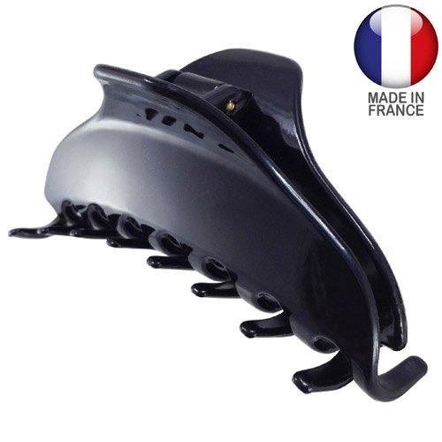 758 – 001 – Pince pour cheveux français plate cm 9 Noir – Pinces pour Cheveux