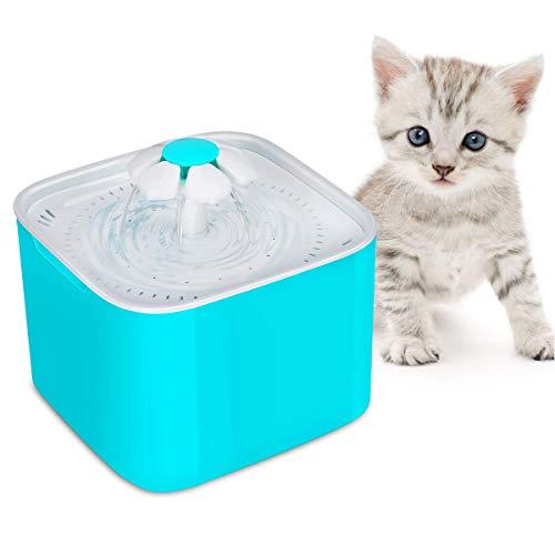 Katzen Trinkbrunnen, Original 2-Liter-Trinkbrunnen mit Kohlefilterstücken, automatischer und leiser Wasserspender
