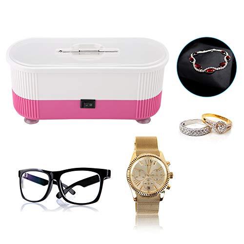 Nettoyeur à ultrasons pour lunettes, bijoux, étanche, montres à dents, machines à nettoyer, nettoyeur numérique avec panier pour la maison