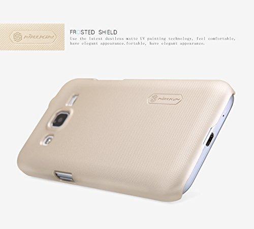 Nillkin Super Frosted Shield Coque pour Samsung Galaxy Core Prime–Noir _ Parent doré