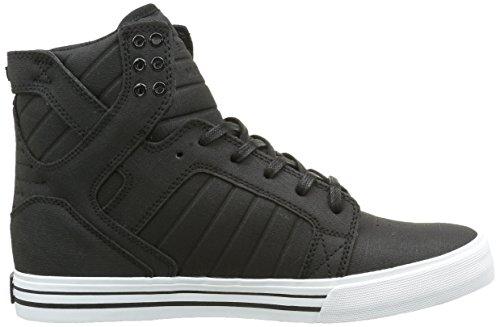 Supra Skytop, Sneakers Hautes mixte adulte Noir (Black/White White)