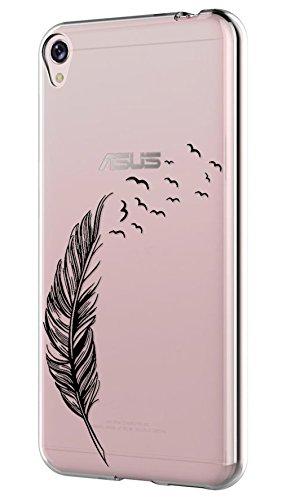 Asus ZenFone Live ZB501KL Hülle Silikon,Sunrive® Transparent Handyhülle Schutzhülle Etui Case Backcover für Asus ZenFone Live ZB501KL(tpu Feder)+Gratis Universal Eingabestift