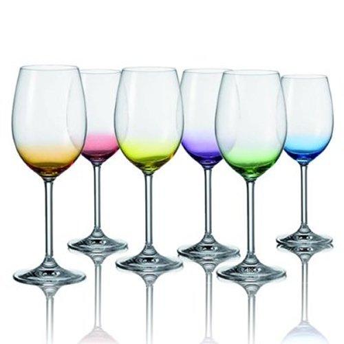 Leonardo Daily verres à vin ensemble de 6 couleurs assorties