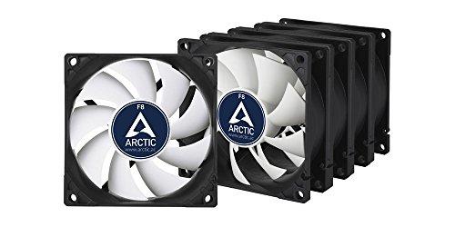 ARCTIC F8-80 mm Standard Gehäuselüfter - 5er Pack | Extrem leiser Lüfter | Case Fan mit Standardgehäuse | Push- oder Pull-Konfiguration möglich (Pack Gehäuse)