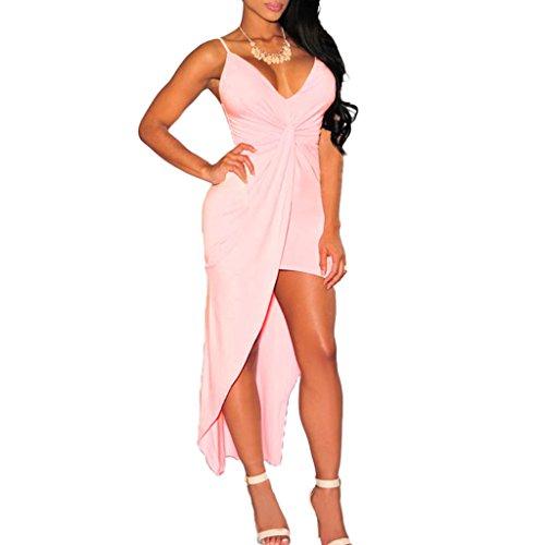 ABILIO - vestito donna abito coda cerimonia vestitino elegante sexy minivestito donna Rosa