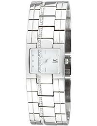 MC Timetrend Damen-Armbanduhr mit Kristallsteinen, Metallband glanz, Analog Quarz 11856