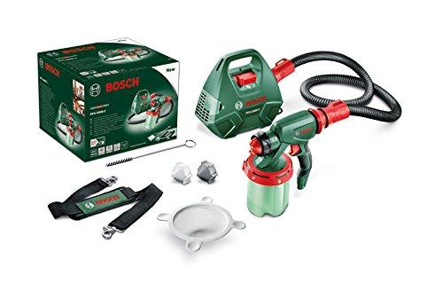 Preisvergleich Produktbild Bosch Farbsprühsystem PFS 3000-2, Farbbehälter 1000 ml, Düse für Lacke und Lasuren (grau)/ Wandfarbe (weiß), Schultergurt, Farbfilter, Reinigungsbürste, Karton