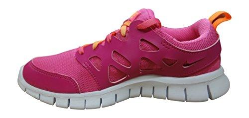 Nike Free Run 2 Gs 477701-401 Unisex - Kinder Low-Top Sneaker vivid pink white bright citrus pink 603