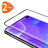 Bewahly Vetro Temperato Samsung Galaxy S10 Plus [2 Pezzi], 3D Curvo Copertura Completa Pellicola Protettiva in Vetro Temperato per Samsung Galaxy S10 Plus [9H Durezza, Alta Definizione] - Nero