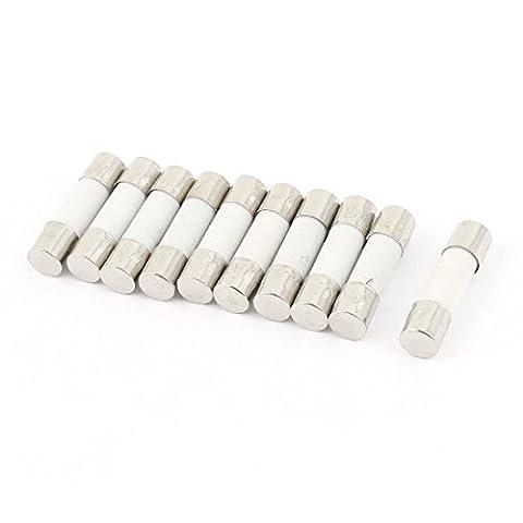 10Pcs 250V 5A T5A Träge Zeitverzögerung Keramik Sicherungen Tubes 5mm