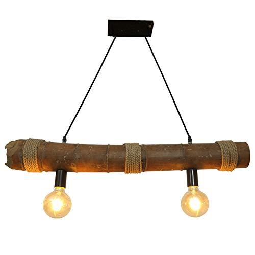 LogIme Bambus Kronleuchter Hanf-Seil-Deckenleuchte Hand Made Retro Industrie Wind Postmoderne dekorative Lampen E27 Geeignet for Schlafzimmer Esszimmer Cafe Bar Lichter -