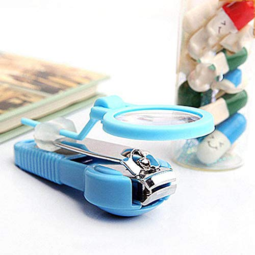 WANGBOSS Nail Clipper with Magnifying Glass Pocket Finger Toe Cutter Trimmer Manicure Tool Pedicure Care Scissors -