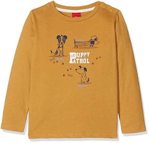 s.Oliver Baby-Jungen Langarmshirt 65.809.31.8183, Gelb (Dark Yellow 1810), 74