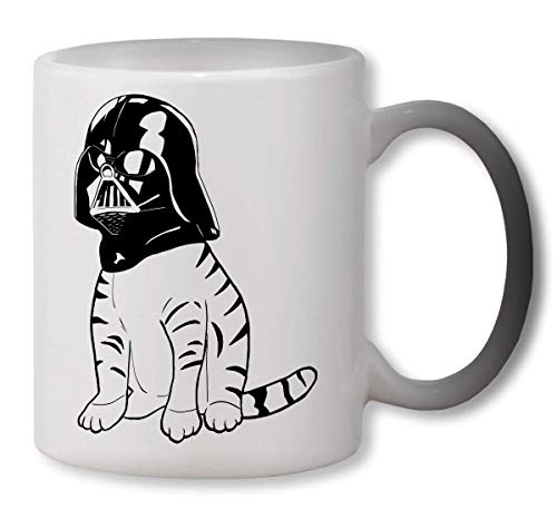 KRISSY Cat Cath Darth Vader Star Wars Heat Colour Changing Mug Cup Café Vaso