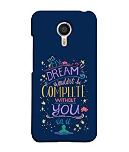 PrintVisa Designer Back Case Cover for YU Yunicorn :: YU Yunicorn YU5530 (Romantic Message Dreams Stars Flowers)