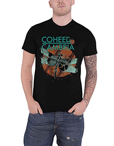 Coheed & Cambria T Shirt Dragonfly Band Logo Nue offiziell Herren -