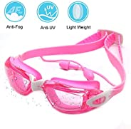 Swim Goggles for Kids 2019 Newest, Swimming Goggles UV 400 Protection Anti Fog No Leaking Wide View Pool Goggl