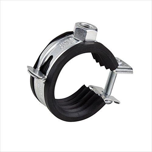 Stabilo-Sanitaer Rohrschelle 12-14mm Stahl verzinkt mit Gummieinlage Rohrhalter Rohrbefestigung Rohrhalterung Gelenkrohrschelle Befestigungsschelle (Verschlussschraube Heizung)