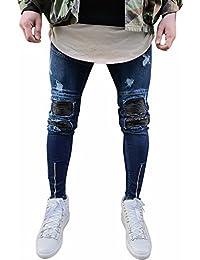 ab0d2621ae26 Manadlian Herren Jeans Hose Destroyed Denim Vintage Jeanshose RB-157    RB-162   RB-171 5-Pocket Used Stretch Freizeithose Denim Männer…