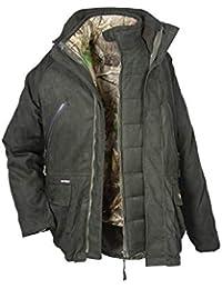 Hubertus Cacciatore 10776708 - Chaqueta de Caza para Hombre, Color Verde Oscuro, Talla 52