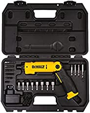 DeWalt 8V Li-Ion Screwdriver 21 Torque Positions And 1 For Drilling with 45pcs Accessories , Yellow/Black, DCF