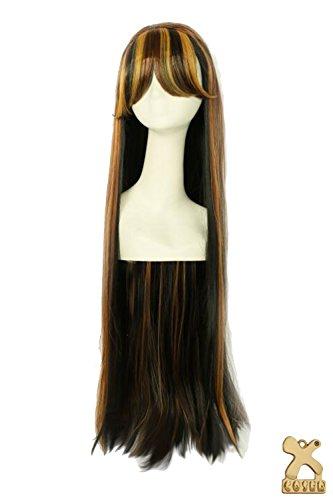 Halloween Perücke Wig Extra Lang Gerade Perücken Anime Cosplay Kostüm Costume Haar Hair Zubehör für Mädchen