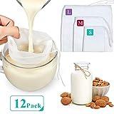 Boao 12 Pièces Sacs de Lait de Noix en Nylon Sac Filtre Maille Passoire Alimentaire...