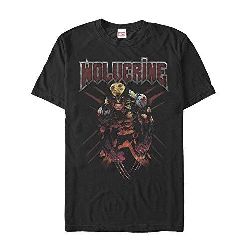 Marvel Camiseta Rayada X-Men Wolverine para Hombre, 3 XL