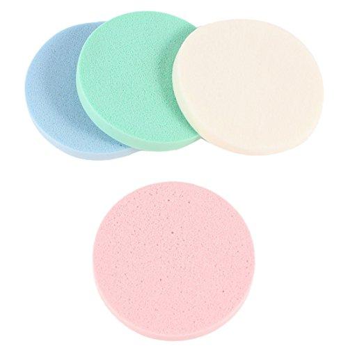 Houppette - TOOGOO(R) 4 en 1 blanc rose bleu vert ronde eponge cosmetiques pour le nettoyage de visage Houppette
