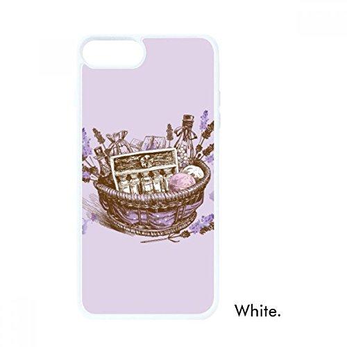 DIYthinker Blumen Pflanze Malerei Geschenk Lavendel Korb Weiß Apple-phonecase Abdeckung Fall-Geschenk (Apple-geschenk-korb)