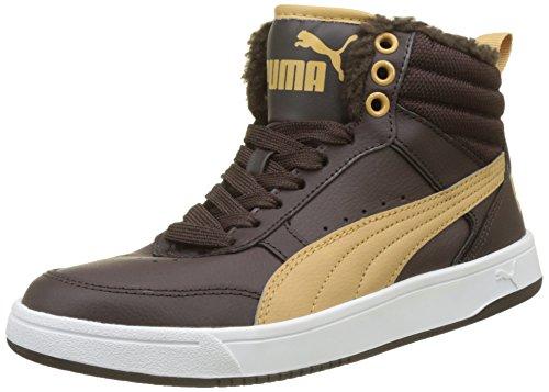 Puma Unisex-Kinder Rebound Street v2 Fur Jr Sneaker, Braun (Black Coffee-Taffy), 36 EU