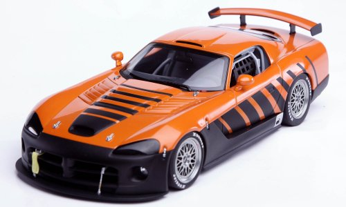 diecast-model-dodge-viper-competition-coupe-go-man-go-in-orange-and-black