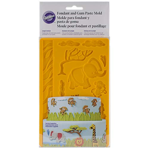 Wilton Jungle Tiere Fondant und Gum Paste Mould -