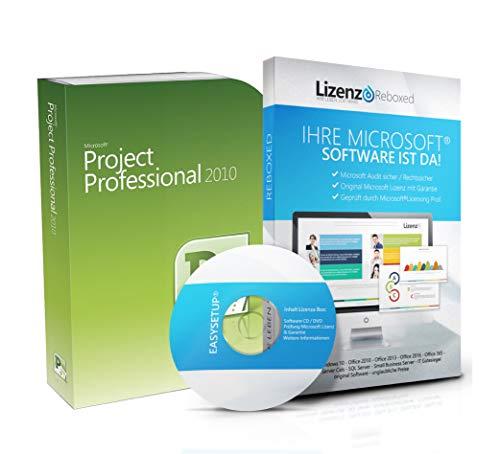Original Microsoft® Project 2010 PRO (Professional Plus) Lizenzschlüssel + Lizenza ISO CD / DVD für 32 und 64 bit Deutsch inklusive Workstation 2016 für Office