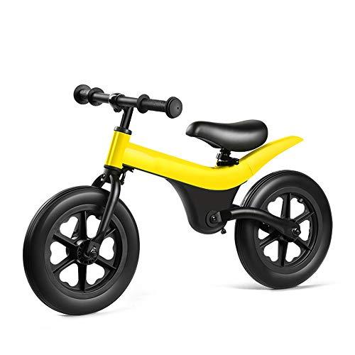 Scooter Pas De Frein À Péd Work Out Toddler Voiture 3-6 Ans Siège Réglable (Color : Yellow, Size : 12 Inch)
