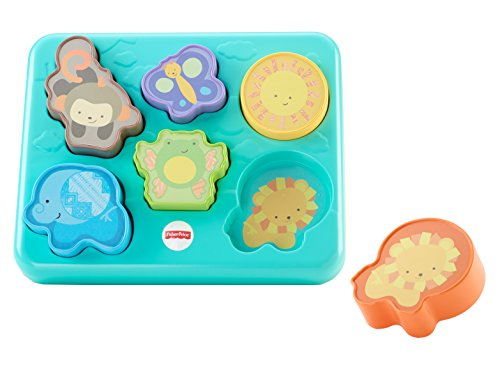 Fisher-Price Monkey & Pals Cute Baby Puzzle for Thinking & Problem Solving - 12-36 Months by Fisher-Price