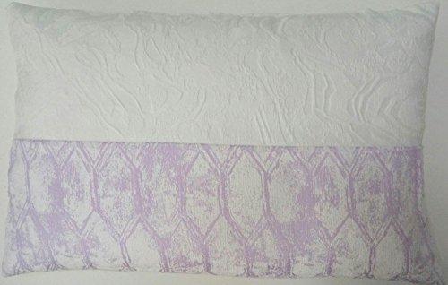 Algodón Blanco IDRIL Funda Cojín, Superior: Algodón/Poliéster, Malva, 60x40