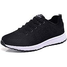 Zapatillas Deportivas de Mujer Net para Estudiante Volar Zapatos Mujer Running Casual Yoga Calzado Deportivo de