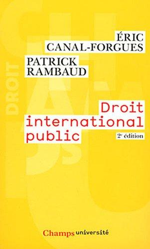 Droit international public par Eric Canal-Forgues, Patrick Rambaud