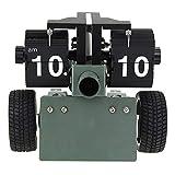 Uhr Funk-Wanduhr Kuckucksuhr Kreative Uhr Uhr Kanone Wende Seite Uhr Armee grün Souvenir Größe: 15.5 * 26 * 15CM@Light Green
